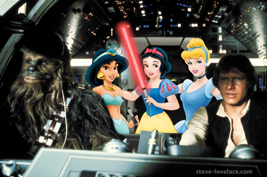 disney-princesses-millennium-falcon
